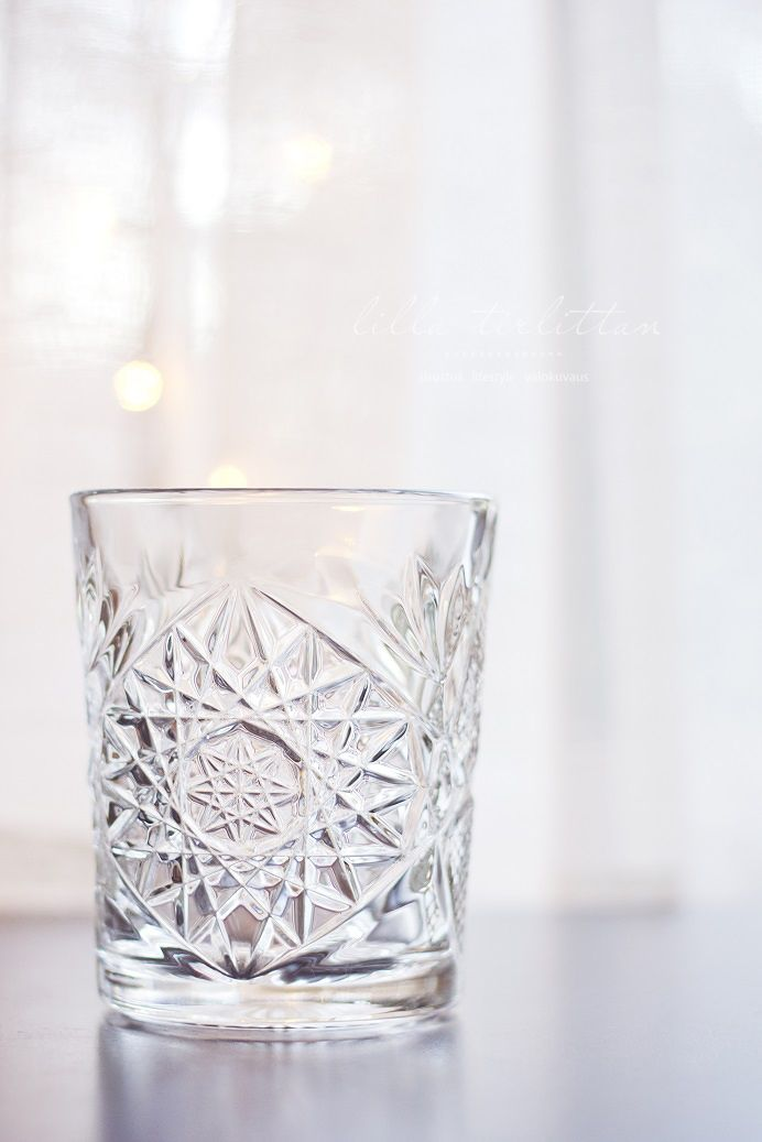 Hobstar crystal glasses for hot and cold drinks - GOT THEM!