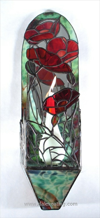 17 Best images about Stained Glass Candle Sconces on Pinterest Antiques, Swarovski crystals ...