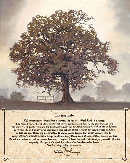The Living Tree Poem Details About Living Life Tree