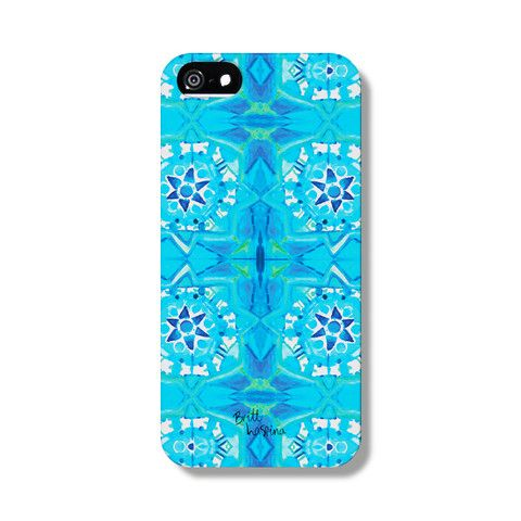 Aqua Tide Phone Case from The Dairy Designed by BRITT LASPINA x