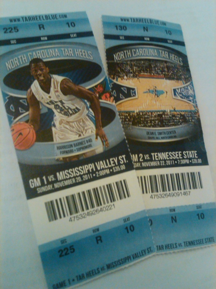 Tickets to a UNC Basketball game