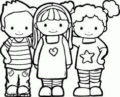 Friendship Coloring Pages | friends in kindergarten ...