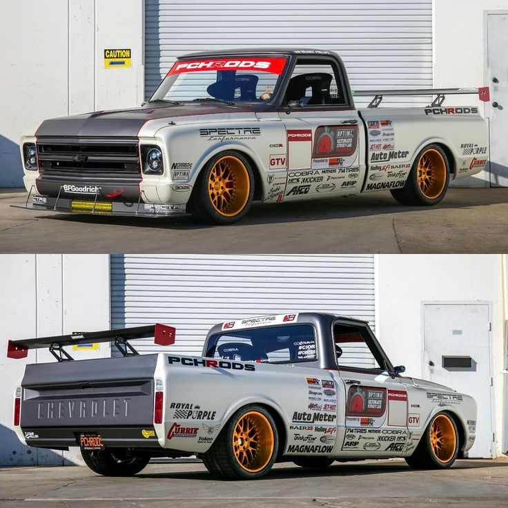 """@detroitspeed #ThrowbackThursday when @pchrods had the white scheme on their @detroitspeed X-Gen """"Equipped"""" C10R!  This isn't your average truck! Follow @detroitspeed for the best in muscle car performance suspension systems and more!"""