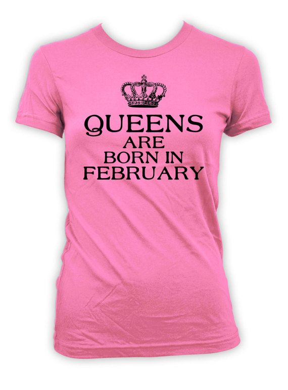 February Birthday T-Shirt - Personalize T-Shirt with Month of Birth!  >> IF YOUD LIKE TO CUSTOMIZE THE MONTH, PLEASE LEAVE A NOTE AT CHECKOUT <<  Thanks for stopping by BirthdayGoodiesShop. I sell apparel to celebrate life's greatest moments. My products are completely customizable. Whether you're looking for a different year, age or print color, I am happy to personalize your order at no additional charge.  BE SURE TO include any personalization notes (ie, dates, age, names) at c...