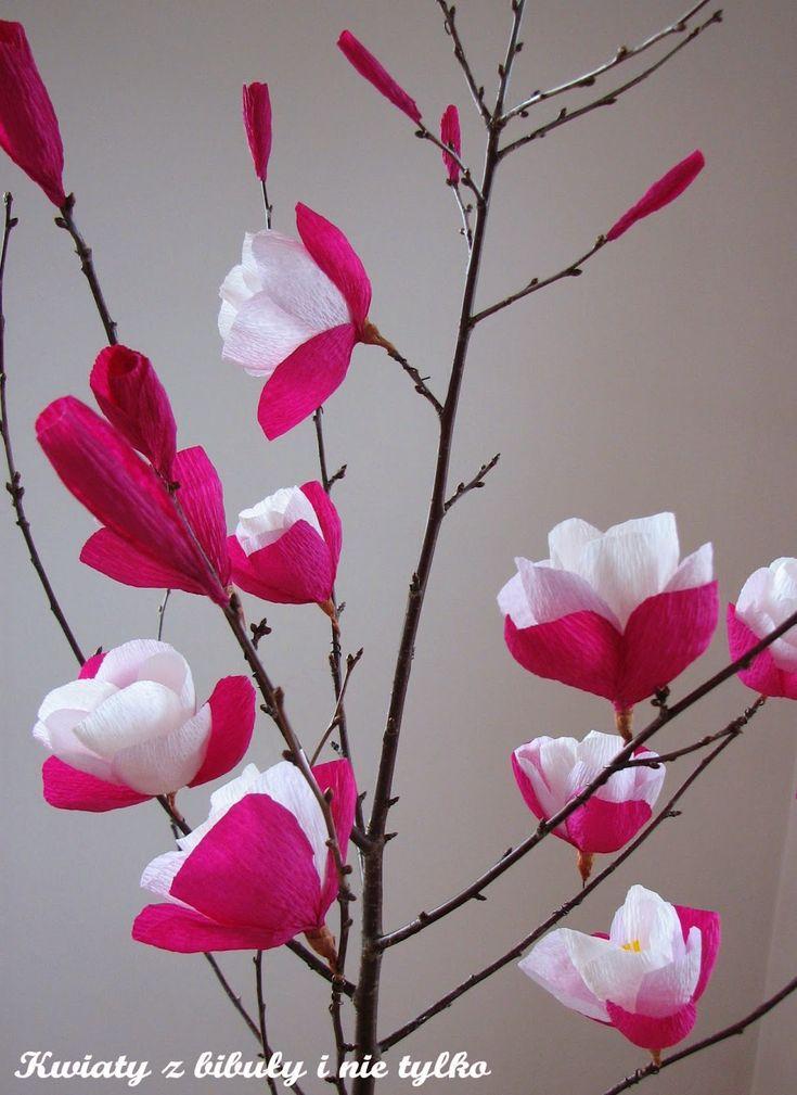 Magnolia Paper Flowers Magnolia Diy And Crafts