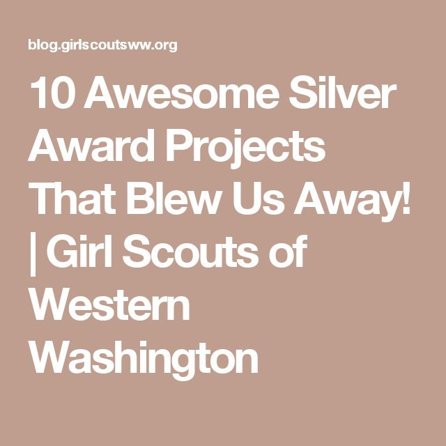 10 Awesome Silver Award Projects That Blew Us Away! | Girl Scouts of Western Washington