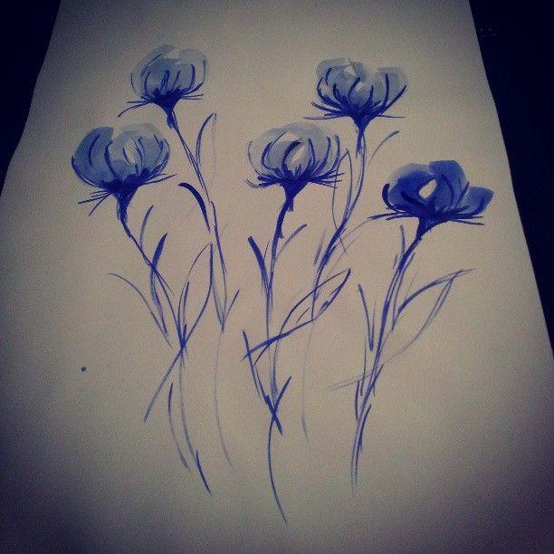 Ink painting of flowers #ink #painting #art #flowers