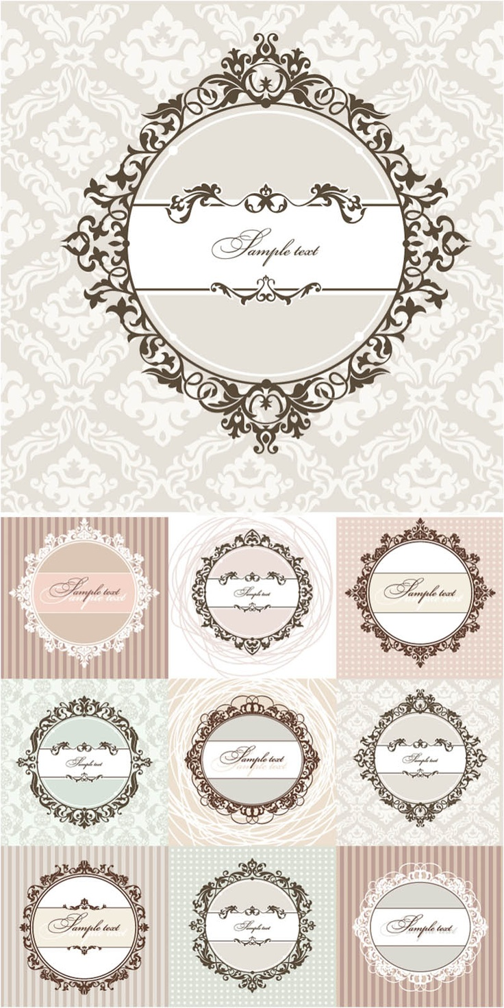 vintage borders - labeling ideas...