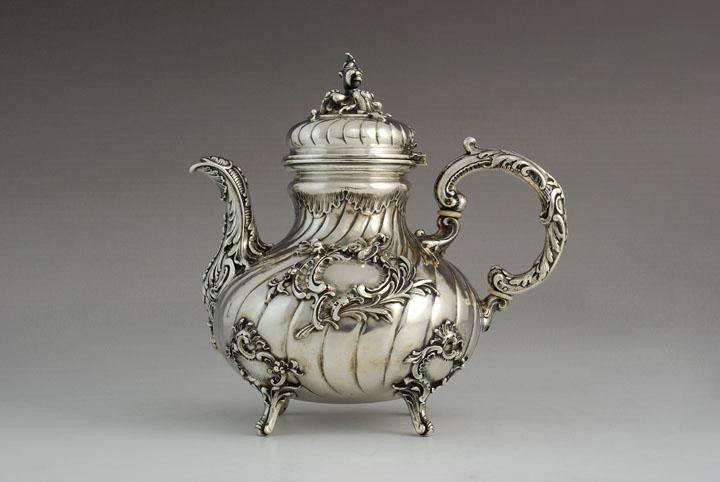 Silver neorococo style tea pot, Germany