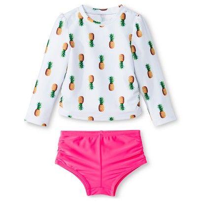Baby Girls' Pineapple Rash Guard Set