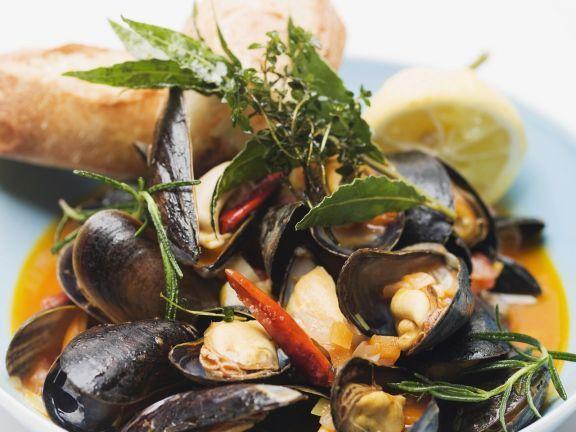 Italienische Muschelsuppe (Zuppa di cozze) ist ein Rezept mit frischen Zutaten aus der Kategorie Muscheln. Probieren Sie dieses und weitere Rezepte von EAT SMARTER!