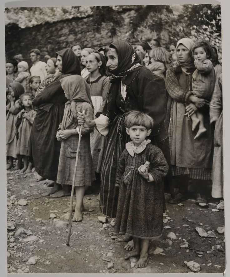 David Chim Seymour - Orphans of the Greek War Circa 1948 - original photograph