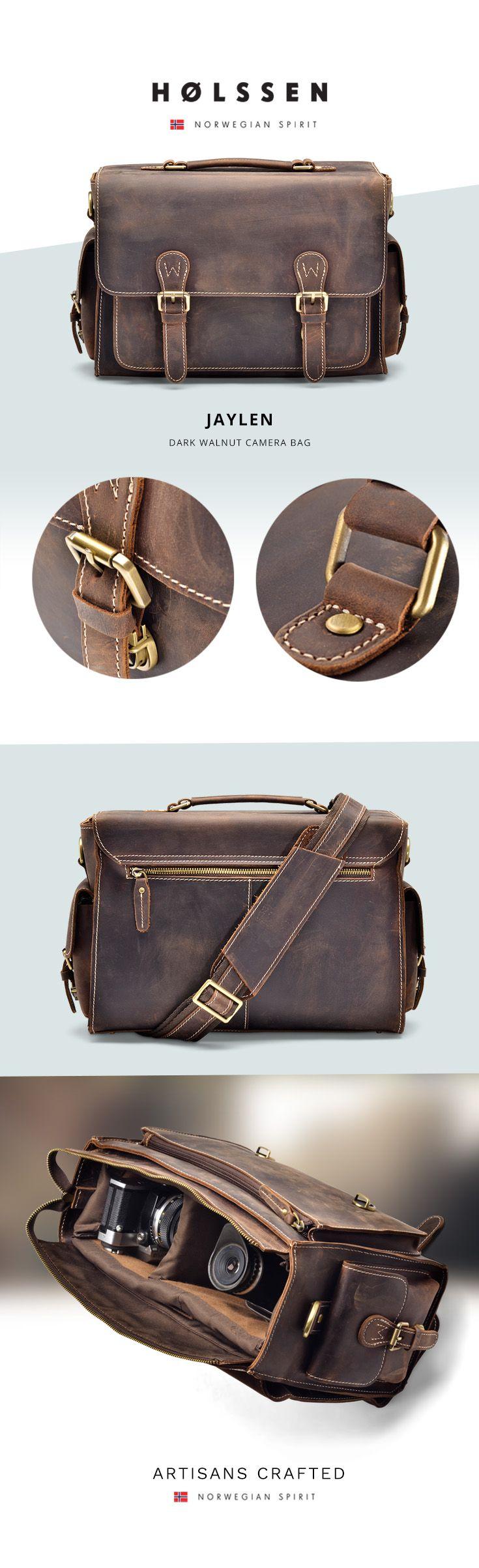 Vintage Leather Camera Bag for DSLR Photographers