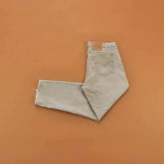 Beige Levis Jeans Vintage 90s Levi Jeans Levis 550 Jeans