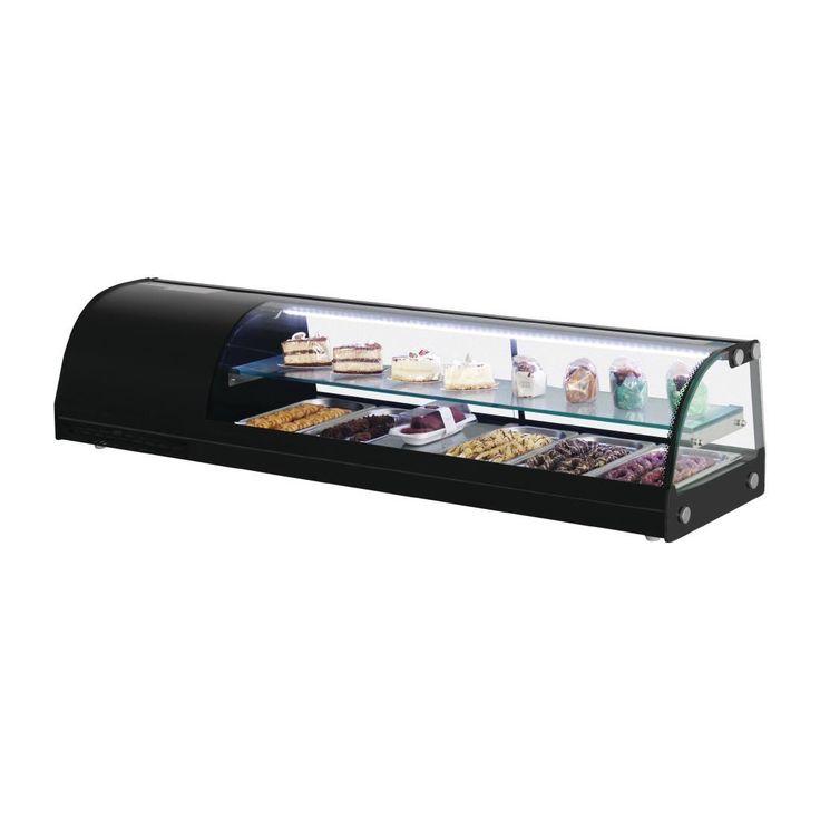 Vitrina expositora refrigerada para tapas con doble piso 150cm. Polar DA540