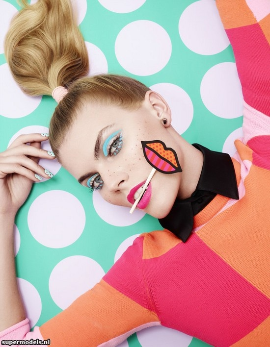 Marina Linchuk in 'Vogue Beauty' - Photographed by Lacey (Vogue Japan March 2013)    Complete shoot after the click...