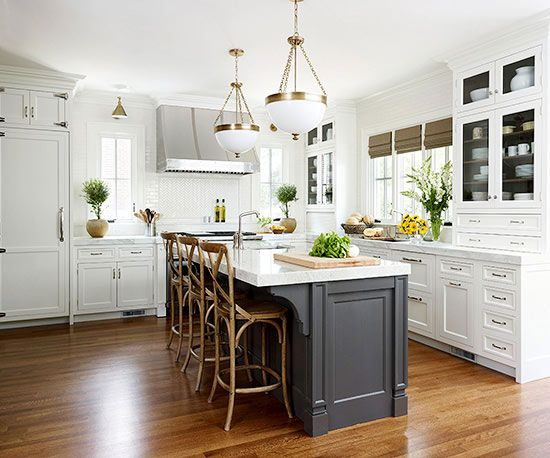 Contrasting Kitchen Islands