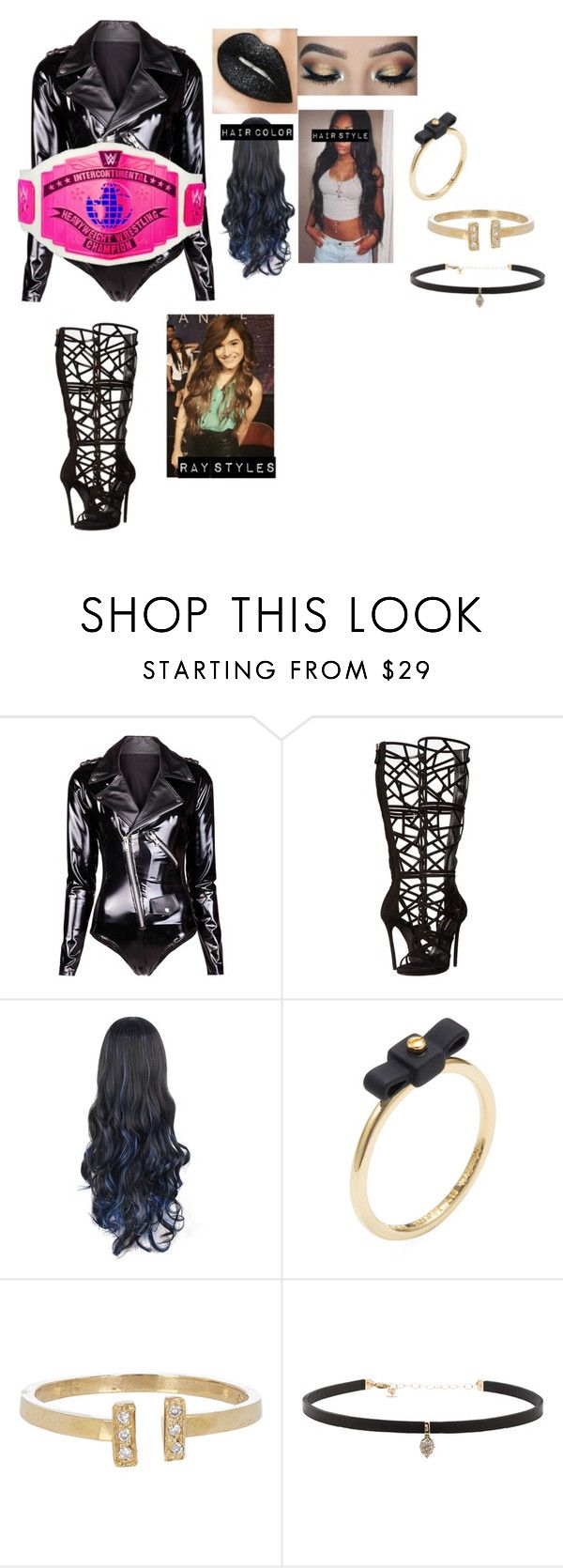"""""""Ray styles- ringside for Dolph Ziggler 'Dolph Ziggler Vs The Miz"""" by princess-nikki123 ❤ liked on Polyvore featuring Dsquared2, Glit, Marc by Marc Jacobs, Loren Stewart and Carbon & Hyde"""