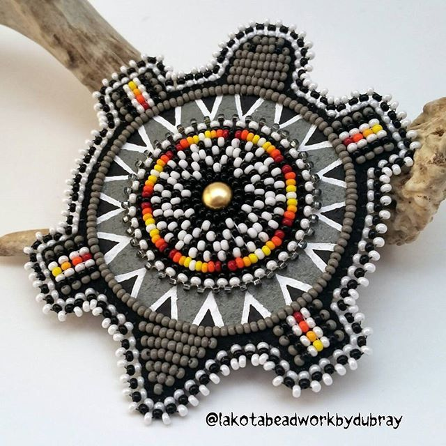 3 Inch Beaded Rosette Bead Bead Work Craft Non Native Sew On  Style Turtle