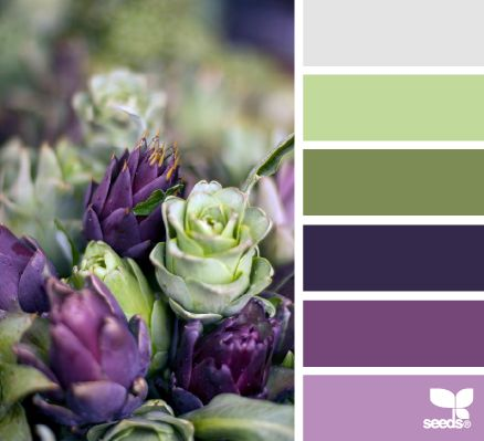 Artichoke Hues - http://design-seeds.com/index.php/home/entry/artichoke-hues5