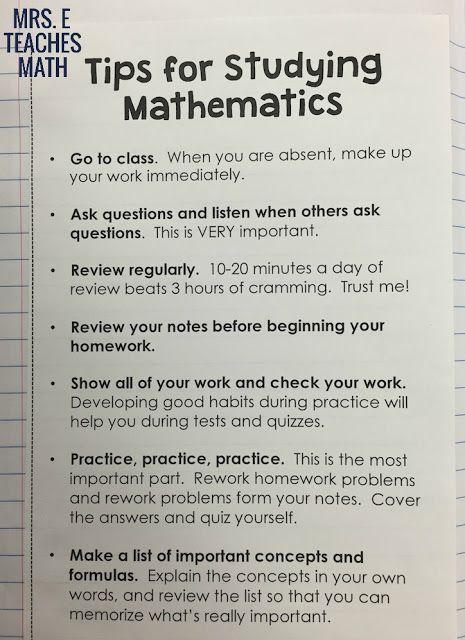 Math Study Tips for an Interactive Notebook {Hilfe im Studium|Damit dein Studium…