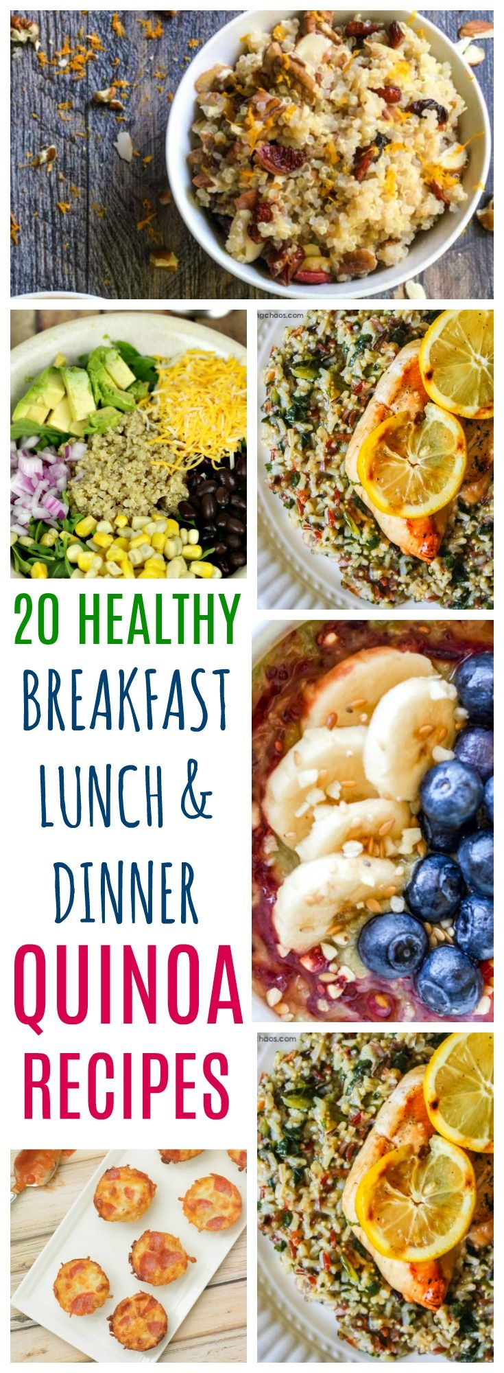20 Healthy Quinoa Recipes For Breakfast, Lunch, and Dinner via @perfectpending