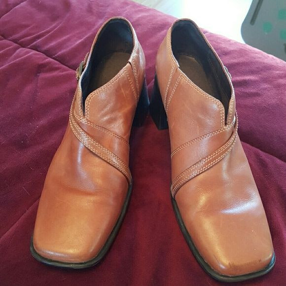 8M Clarks boot Brown Upper Leather boot by Clarks Clarks Shoes Ankle Boots & Booties