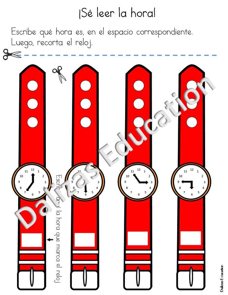El reloj contiene diferentes actividades para aprender a leer el reloj digital y análogo.  Contenido del paquete de actividades: -Escribir qué hora es en palabras - Pareo entre hora digital y reloj análogo - Recorta el reloj para utilizarlo como brazalete o pulsera.  - Dibuja las manecillas del reloj. - Leer la hora - Identificar si es a.m o p.m. Las actividades se encuentran a color y en blanco y negro.  Espero que le sea muy útil estas actividades y que sus estudiantes se diviertan…