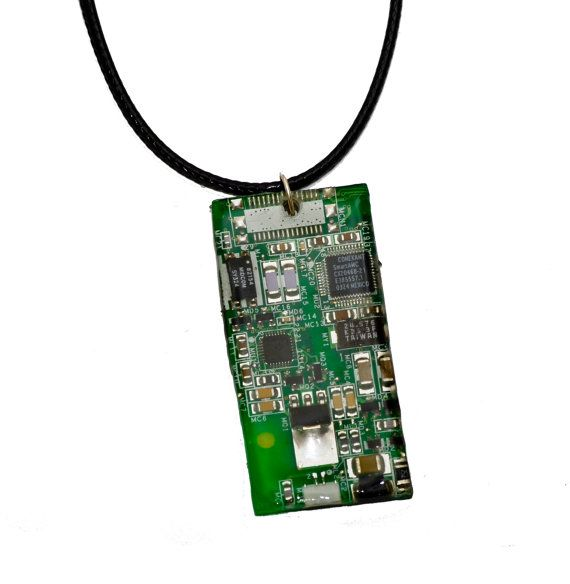 Techie Geek Computer Motherboard Pendant by thelongwayround