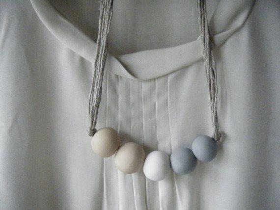 Delphine  Handmade Clay Bead Necklace