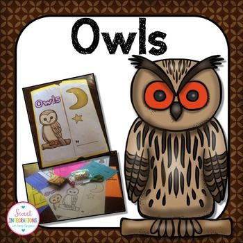 Owls; Owls Interactive Lapbook or Notebook;Welcome to Sweet Integrations.Students can learn interesting facts about owls as they create their own interactive lapbook or notebook.I've provided great resources from my Google Sites page and an abundance of templates for the lapbooks. $