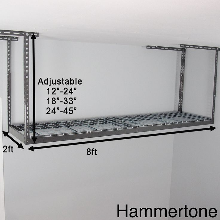 MonsterRax 2' x 8' Overhead Garage Storage Rack
