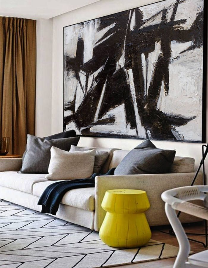 extra Large wall art, Abstract Painting, Contemporary Art, Black and white painting, Canvas art, Large canvas art, Paintings on canvas, Art