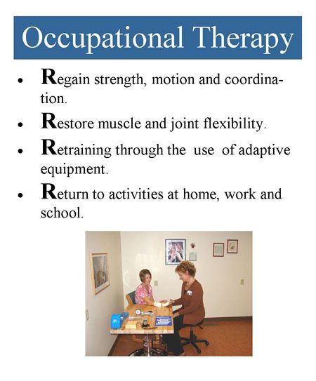 The Four R's of Occupational Therapy