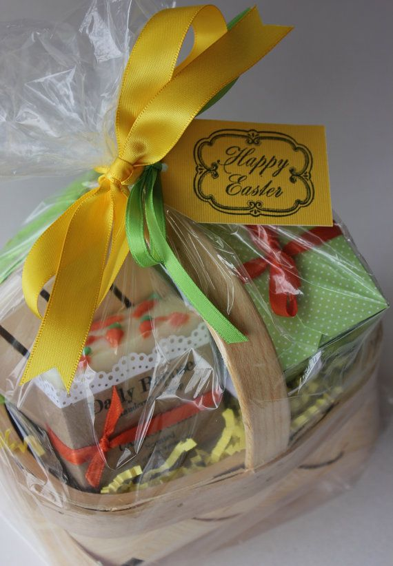 17 best basket images on pinterest baskets soaps and basket easter basket soap gift basket set carrot cake vegan cold process soaps bath salt negle Gallery