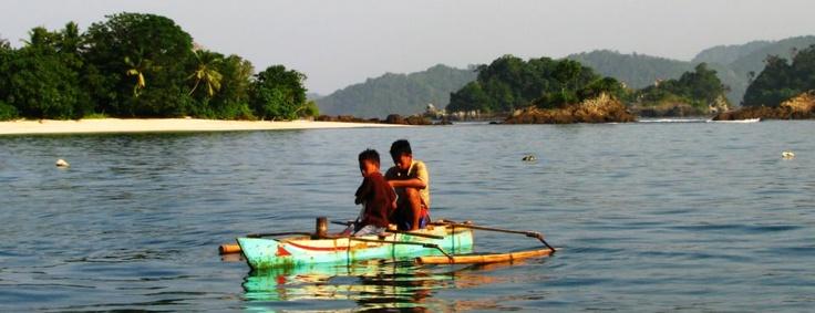 Fishermen children at Teluk Kiluan, Lampung.