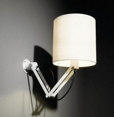 Modular Nomad Minimal short E27 + Minimal Shade Large Wandlamp rood of wit, geen LED