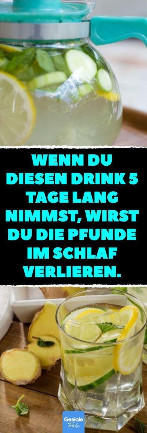 Wenn du diesen Drink 5 Tage lang nimmst, wirst du die Pfunde im Schlaf verlieren. Rezept für ein erfrischendes und leckeres Abnehm-Getränk. #Infused #Wasser #abnehmen #lecker