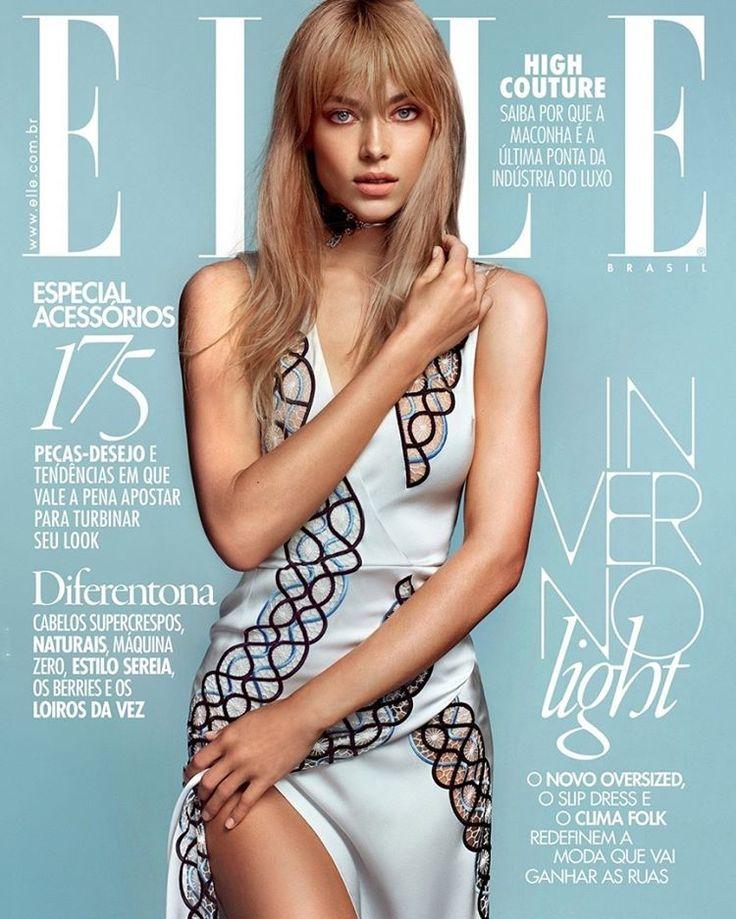 cool Sports Illustrated model Hannah Ferguson lands two covers of Elle Brazil April 2016 by Gustavo Zylbersztajn