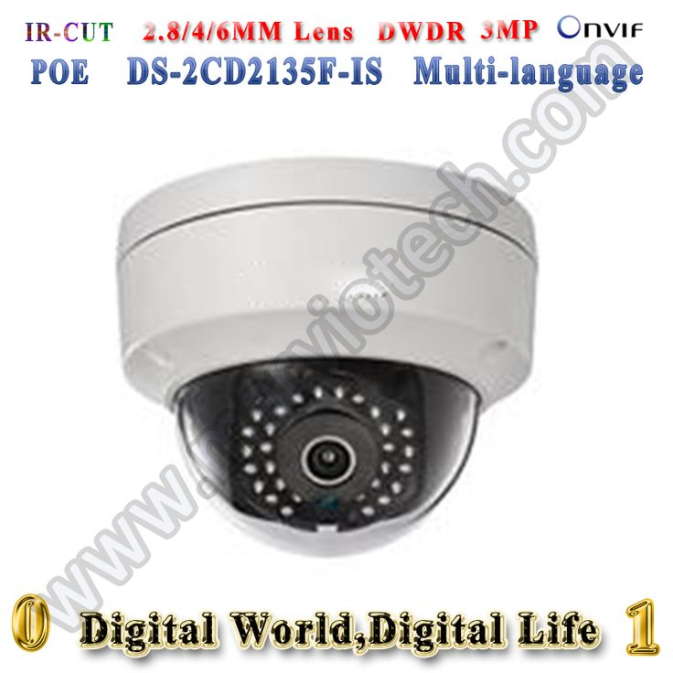 3mp max poe ip camera DS-2CD2135F-IS hd 2mp h265 cctv camera de videovigilancia onvif multi language  camaras de seguridad