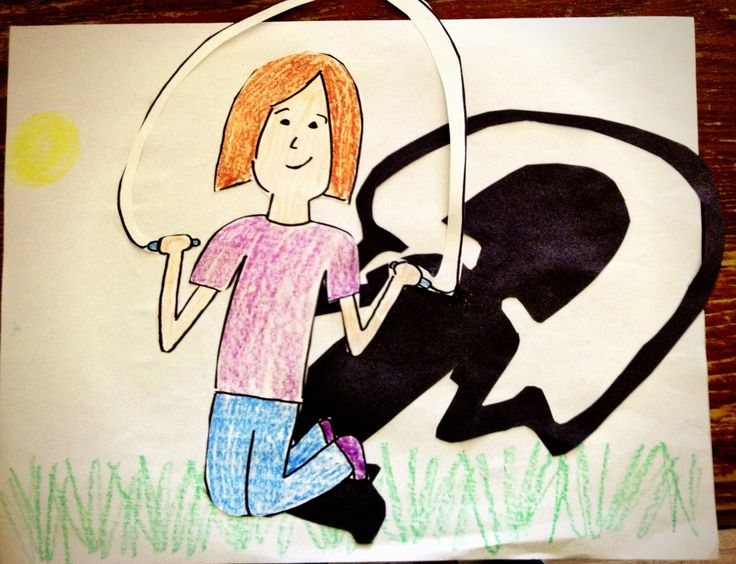 My shadow art project for kids