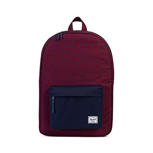 HERSCHEL SUPPLY CO. Classic Backpack Uni Windsor Wine/Peacoat School Bag 10001-01575-OS HERSCHEL Bags: Generous Main Compartment Signature…
