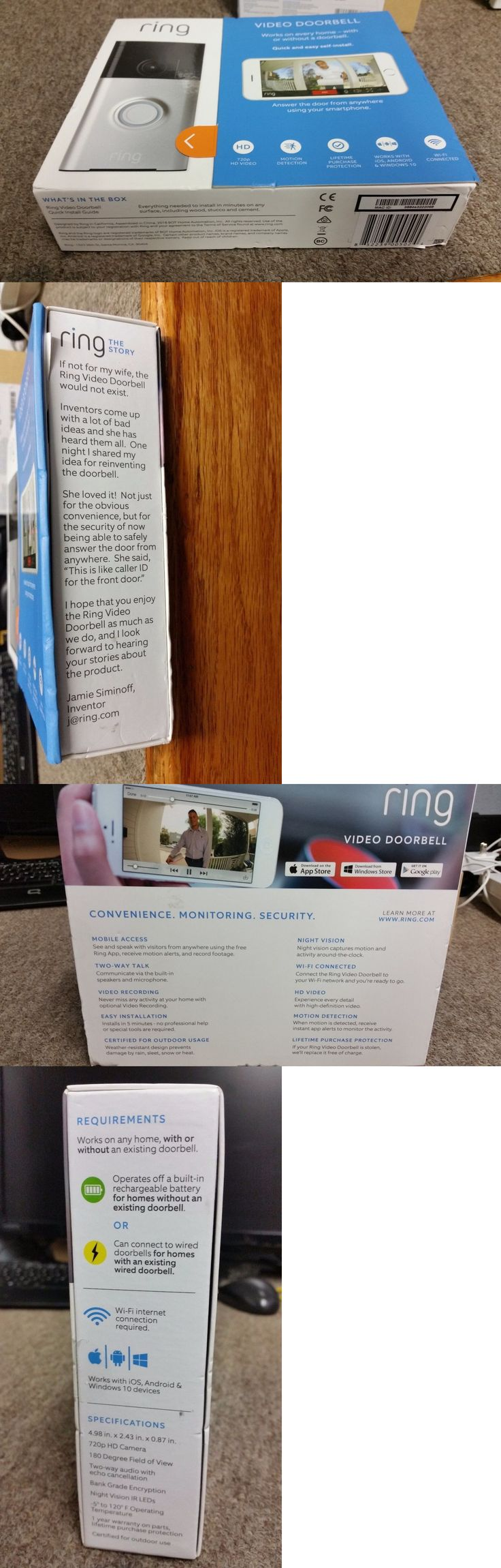 Intercoms and Access Controls: Ring Video Doorbell *New* -> BUY IT NOW ONLY: $175 on eBay!