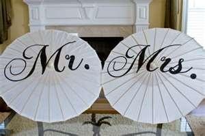 monogram wedding umbrellas.
