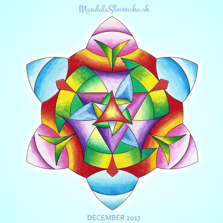 Mandala mesiaca December Zmenou dosiahnem seba. #mandala #mandalaslovensko #mandalaslovakia #mandalanovember #december #healingart #sacredgeometry #newearth #art #handmade #affirmations