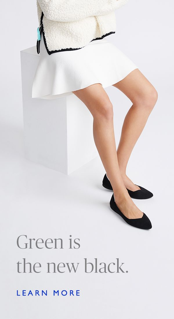 Stylish and comfortable flats made from environmentally friendly rubber and recycled plastic water bottles. Shop the Black Point and other colorways at Rothy's.