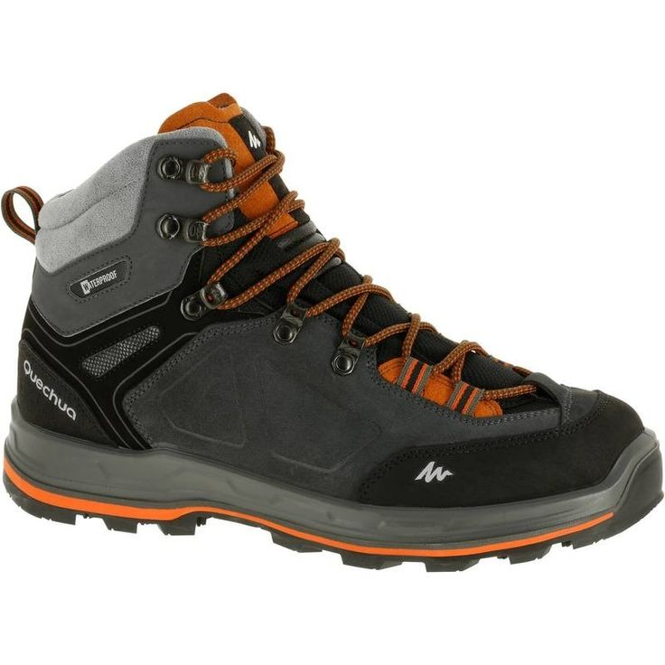 £59.99 - 35 - Hiking - Forclaz 500 High Men's Waterproof Walking Boots - Grey - QUECHUA