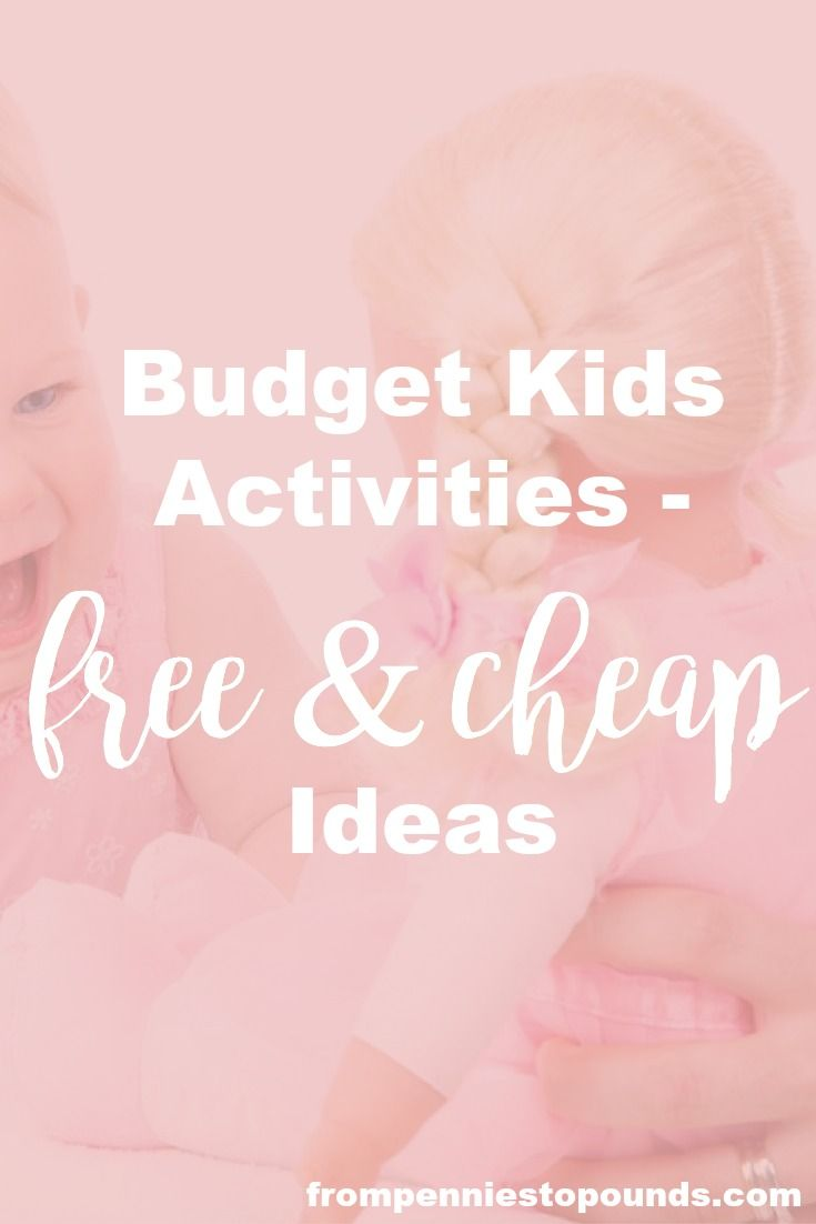 Fab list of free and cheap kids activity ideas to do whilst you are on a budget. Money saving ideas - you don't need to spend a fortune to keep the kids entertained! Perfect for the school holidays: http://www.frompenniestopounds.com/budget-kids-activities-free-cheap-ideas/ Budgeting Tips | Save | Finance | Credit Card Debt | Financial Resources | Save more | Budget Help | Mum life | Frugal living | Debt Free Living | Money Management | Saving Tips