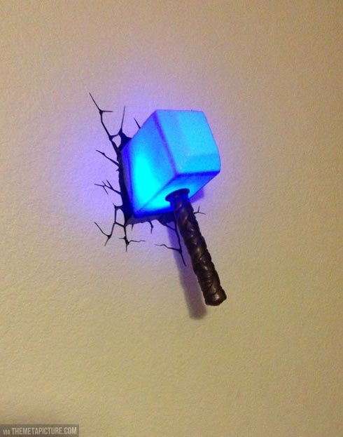 Thor night light. This is so cute! Little kids beware, this is what your getting from me for Christmas.