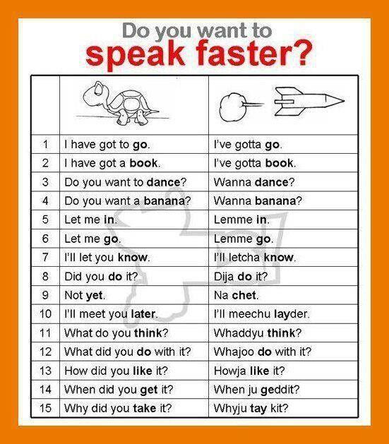 Speak faster